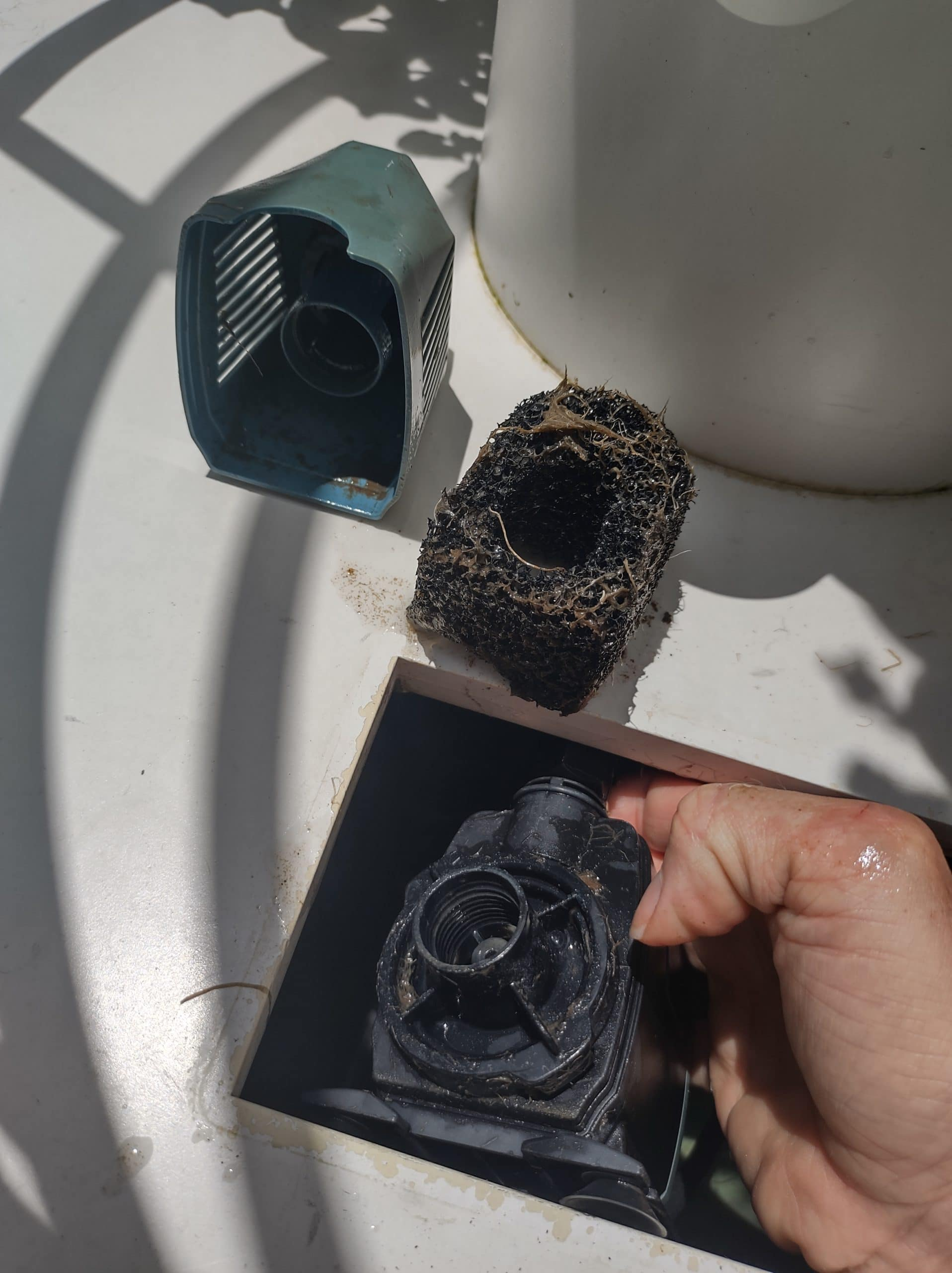 Clean the pump and pump filter